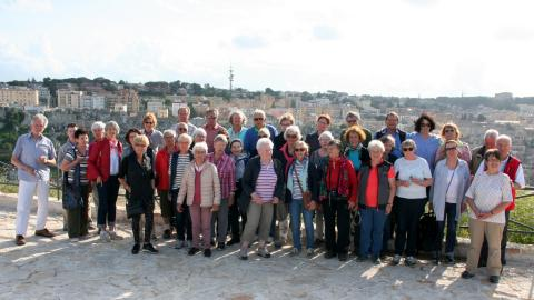 Die Reisegruppe des Bürgerforums in Matera (Foto: Agnes Tschechowski)